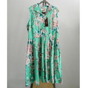 5418c5cb4191b Voodoo Vixen Dresses - NWT Voodoo Vixen Plus Size Retro Floral Dress 3X